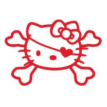 HELLO KITTY TETE DE MORT 001