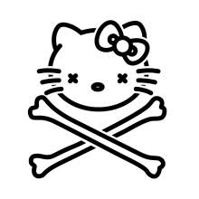 HELLO KITTY TETE DE MORT 002