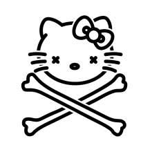 HELLO KITTY TETE DE MORT 002