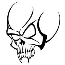 TETE DE MORT SKULL TRIBAL 001