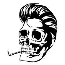 TETE DE MORT SKULL SMOKING 001