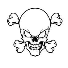 TETE DE MORT SKULL 018