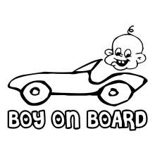 BOY ON BOARD 001